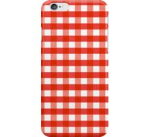 Red Gingham iphone case iPhone Case/Skin