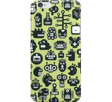 Robots faces green. iPhone Case/Skin