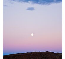 Sunset / Moonrise, Eastern Washington by Tim McGuire