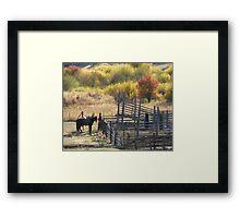 Corrals in Autumn Framed Print