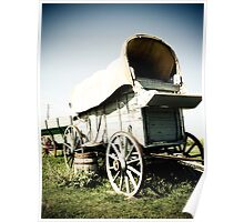 Old West Covered Wagon 01 Poster