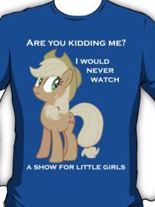 "Applejack lies ""You"" Version T-Shirt"