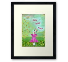 Madame Minx and Basil; Will you play with us? Framed Print