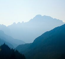 Layers of light, Livinallongo, Dolomite Mountains, Italy by Andrew Jones