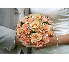 Cream-coloured bouquet. Photographic Print