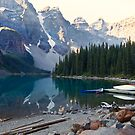 Lake Moraine  Banff National Park, Alberta, Canada by Yannik Hay