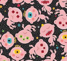 Baby monsters. by Ekaterina Panova