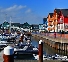 Multi Colour Exmouth Marina by lynn carter