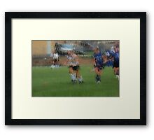 091611 120 0 pointillist field hockey dust Framed Print