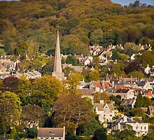 Autumn in Painswick, Cotswolds, England by Giles Clare