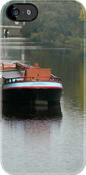 photocase-barge boat by LisaBeth