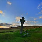 Dartmoor Crosses Series: Early Morning at Windy Post by Rob Parsons