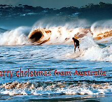 Surfing at Merimbula by Pauline Tims