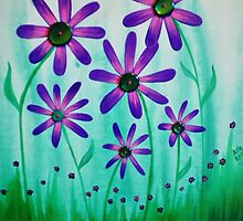 The Button Flowers by Ashley Hanna