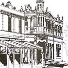 Kensington, Melbourne Victoria.  Bellair St.  by Elizabeth Moore Golding