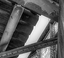 Underneath- a view from under a CSR Railroad Girder Bridge by njordphoto