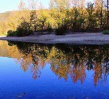 Cobalt Sky, Autumn Reflections Buffalo National River by NatureGreeting Cards ©ccwri