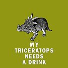 My Triceratops needs a drink by suranyami