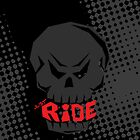 Dark Black Skull: Just Ride by creativeburn
