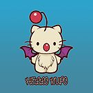 Hello Kupo - IPHONE CASE (Blue) by MeganLara