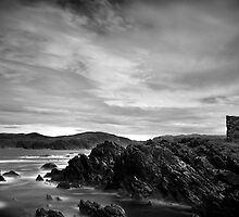 Carrickabraghy Castle, Donegal, Ireland by Javier Leite
