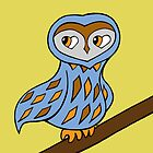 Wizzy The Owl by Denise Vasquez by Denise  Vasquez
