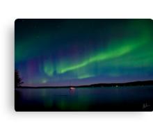 Auroras and The Lake Canvas Print