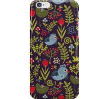 Folk birds. iPhone Case/Skin