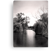 Black and White Park Canvas Print