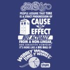 Time-y Wimey Tee by Tom Trager