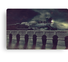 Steaming on By Canvas Print
