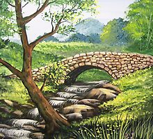 Stone Bridge - Acrylics by teresa731