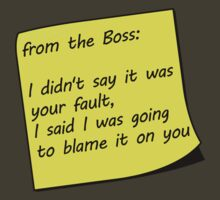 From The Boss Sticky Note by CreativoDesign