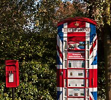 Patriotic Phone Box by Nigel Jones
