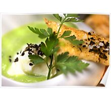 Green Peas 4 Soup With Spicy Pastry and Nigella Sativa Poster
