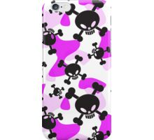 Skulls, crossbones and Pink Camouflage  iPhone Case/Skin