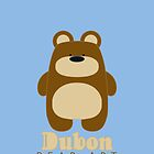 Dubon Bear Art - iPhone 4 case I by Dubon