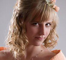 Bride in cream dress. Portrait 1 by fotorobs