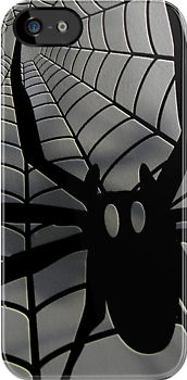 Spider iPhone case designer jewelry  by patjila