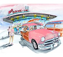 Mel's Diner - 1950 Ford - in the pink Photographic Print