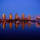 Vancouver at Dusk by Erika  Hastings