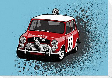 'Paddy Hopkirk 37' Mini Cooper Rally Car by Twain Forsythe