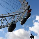 London Eye with Street Light by Heidi Hermes