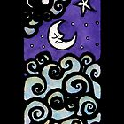 Mooning iPhone Case by Amy-Elyse Neer