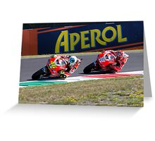 Valentino Rossi & Nicky Hayden in Mugello 2011 Greeting Card