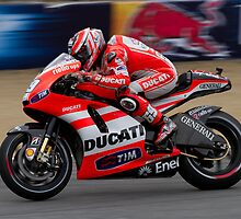 Nicky Hayden in Laguna Seca by corsefoto
