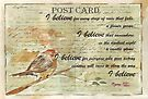 Postcards to Remember 4 - I Believe by Maree  Clarkson