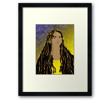 Her hair is her crowning glory Framed Print