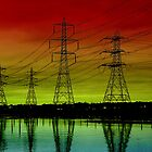 Sunset Pylons by Louise Godwin