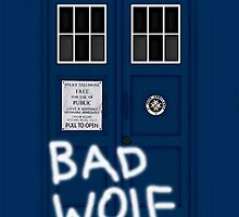 BAD WOLF TARDIS by vanessaisha